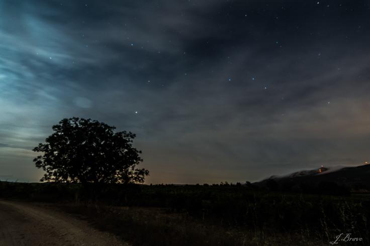 4. Contaminación lumínica, camino entre Leza y Villabuena