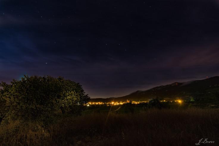 5. Contaminación lumínica, cielo estrellado en Samaniego