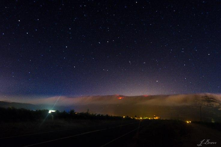 8. Cielo estrellado, carretera Villabuena a Samaniego